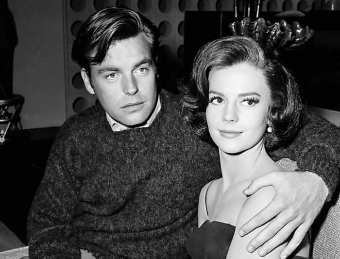 Natalie Wood and husband Robert Wagner  Posing