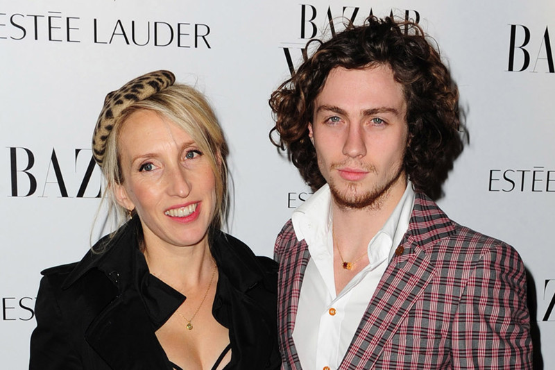 WORLD RIGHTS Aaron Johnson and Sam Taylor-Wood attending the Harpers Women of the Year Awards 2010 at One Mayfair in London, UK. 01/11/2010 BYLINE SIMON BURCHELL/BIGPICTURESPHOTO.COM: REF:1452 USAGE OF THIS IMAGE OR COPY WRITTEN THAT IS BASED ON THE CAPTION, IS CONDITIONAL UPON THE ACCEPTANCE OF BIG PICTURES'S TERMS AND CONDITIONS, AVAILABLE AT WWW.BIGPICTURESPHOTO.COM *** Local Caption ***