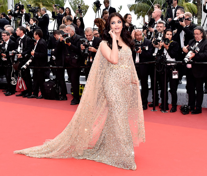 """CANNES, FRANCE - MAY 13:  Aishwarya Rai attends the """"Slack Bay (Ma Loute)"""" premiere during the 69th annual Cannes Film Festival at the Palais des Festivals on May 13, 2016 in Cannes, France.  (Photo by Pascal Le Segretain/Getty Images)"""