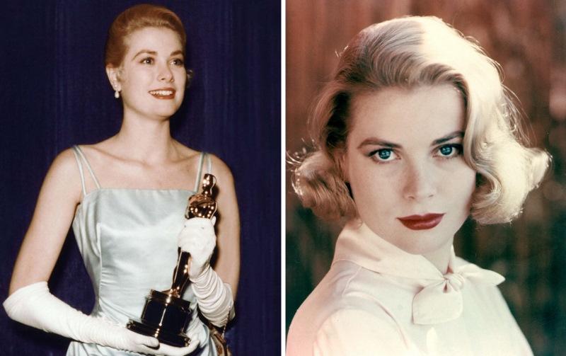 """Grace Kelly 1954 mit ihrem Oscar fџr """"Ein MЉdchen vom Lande"""" (The Country Girl, USA 1954, Regie: George Seaton), Best Actress /Portrait PortrЉt Personen, Auszeichnung, Ehrung, Preis, Filmpreis, Academy Award"""