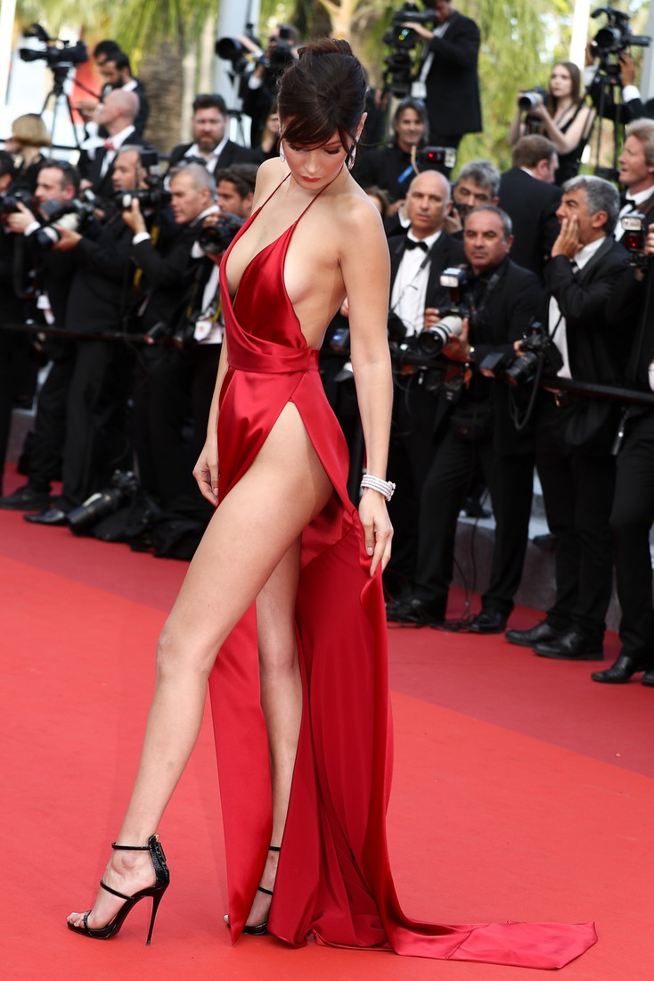 Bella Hadid attends the screening of 'The Unkown Girl (La Fille Inconnue)' at the annual 69th Cannes Film Festival at Palais des Festivals on May 18, 2016 in Cannes, France  Pictured: Bella Hadid
