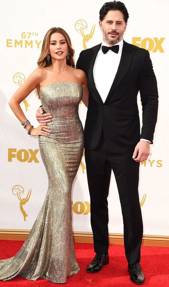 LOS ANGELES, CA - SEPTEMBER 20:  Sofia Vergara and Joe Manganiello arrives at the 67th Annual Primetime Emmy Awards at Microsoft Theater on September 20, 2015 in Los Angeles, California.  (Photo by Steve Granitz/WireImage)