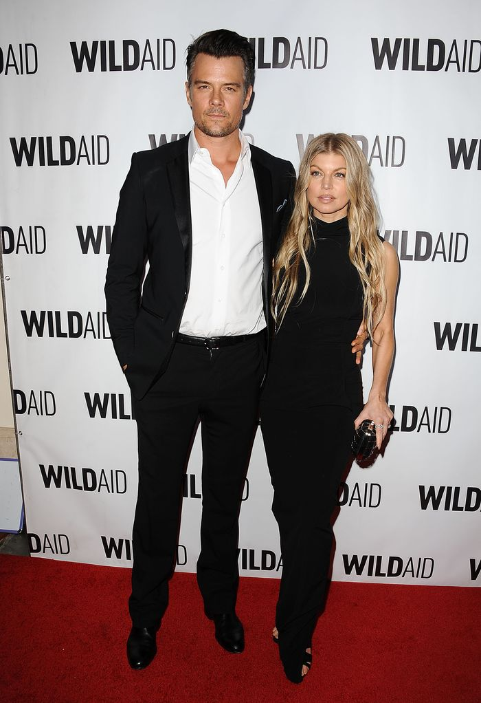 BEVERLY HILLS, CA - NOVEMBER 07:  Josh Duhamel and Fergie attend WildAid 2015 at Montage Hotel on November 7, 2015 in Beverly Hills, California.  (Photo by Jason LaVeris/FilmMagic)