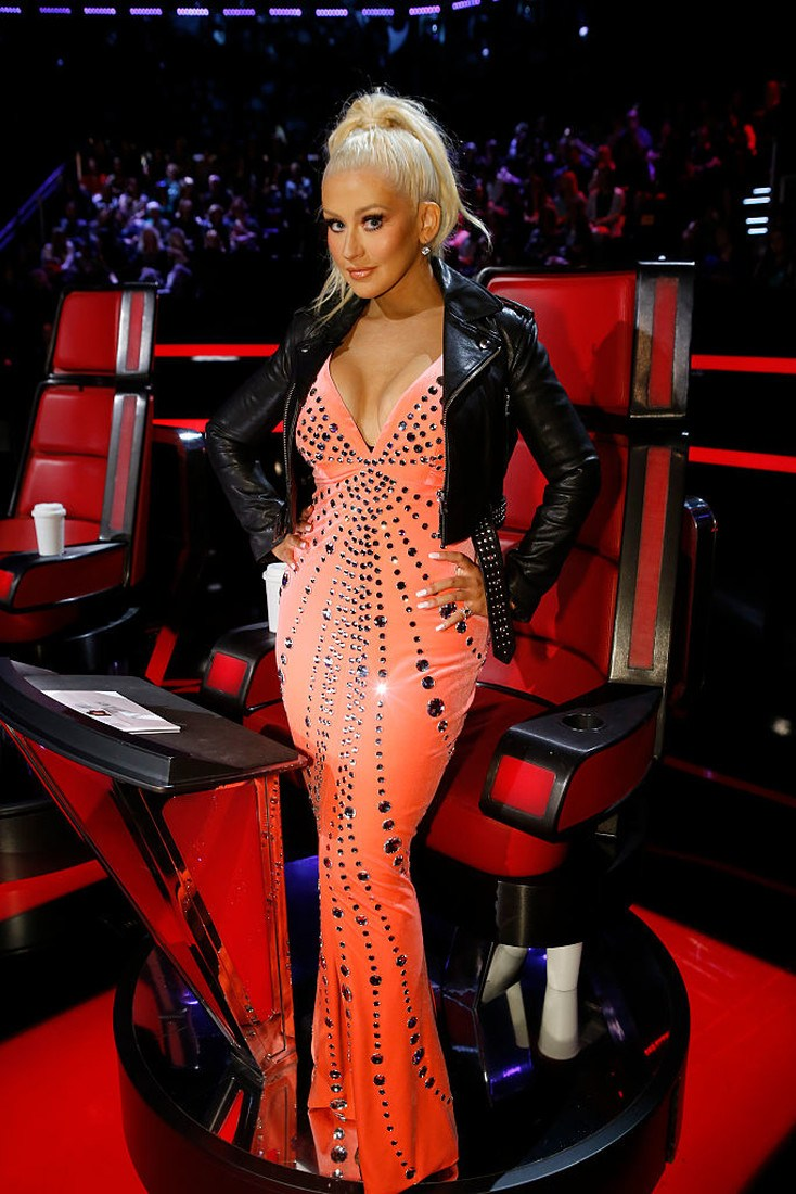 "THE VOICE -- ""Live Top 11"" Episode 1014A  -- Pictured: Christina Aguilera -- (Photo by: Trae Patton/NBC/NBCU Photo Bank via Getty Images)"