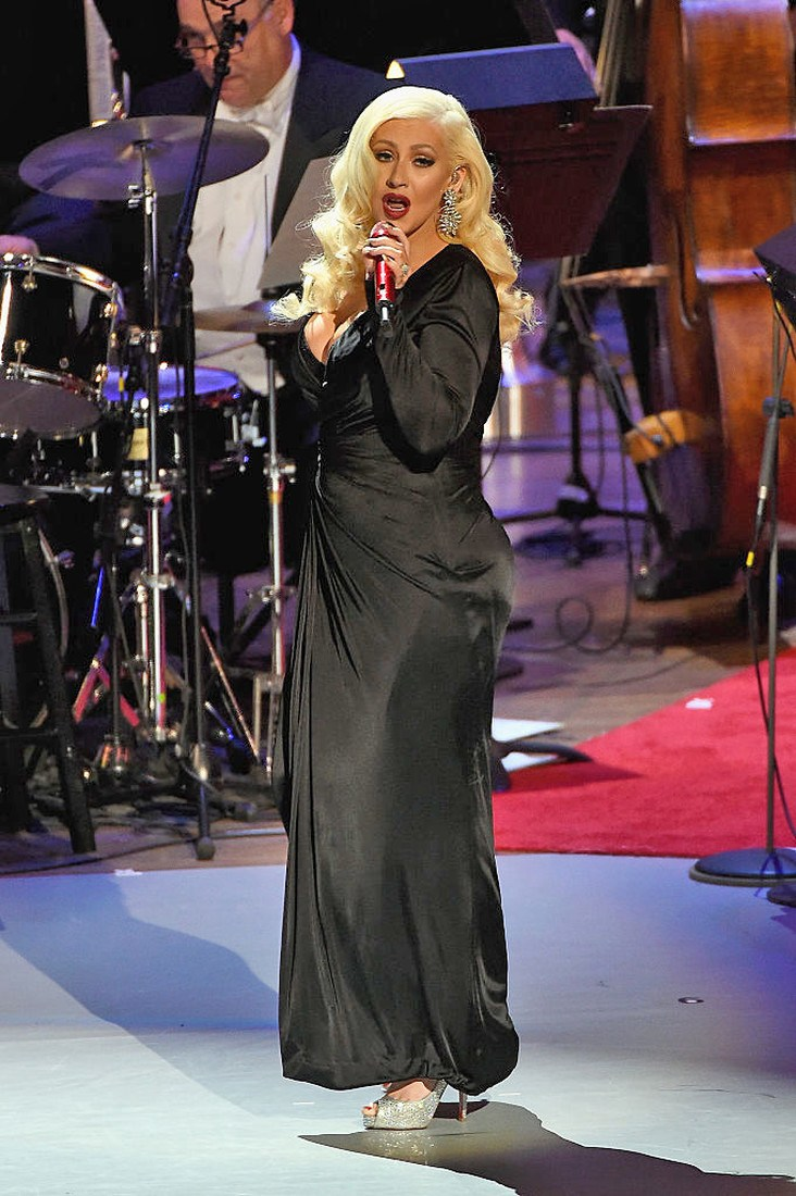NEW YORK, NY - DECEMBER 03:  Christina Aguilera performs onstage during the Sinatra Gala with New York Philharmonic at Lincoln Center's David Geffen Hall on December 3, 2015 in New York City.  (Photo by Kevin Mazur/Getty Images for Lincoln Center)