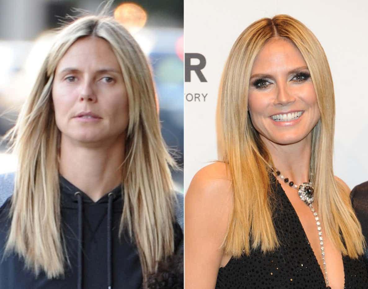 Фото знаменитостей с макияжем и без него