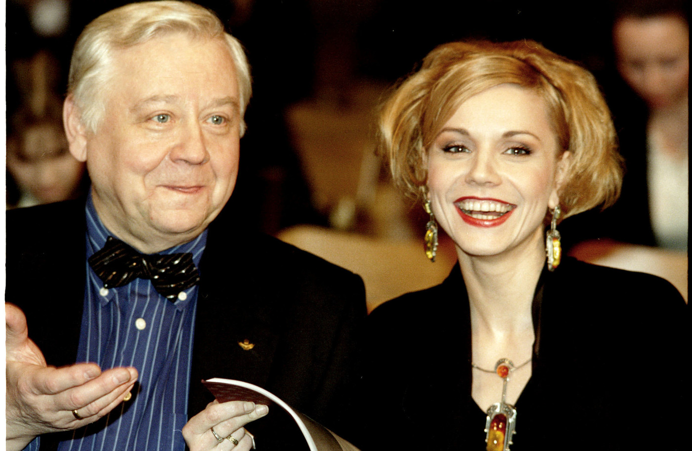 December 3. Famous Russian actor and director Oleg Tabakov and his wife, actress Marina Zudina. ----- TAS 04. Ðîññèÿ. Ìîñêâà. 3 äåêàáðÿ. Èçâåñòíûé ðîññèéñêèé àêòåð è ðåæèññåð Îëåã Òàáàêîâ è åãî æåíà àêòðèñà Ìàðèíà Çóäèíà. Ôîòî Áîðèñà Êàâàøêèíà ÈÒÀÐ-ÒÀÑÑ