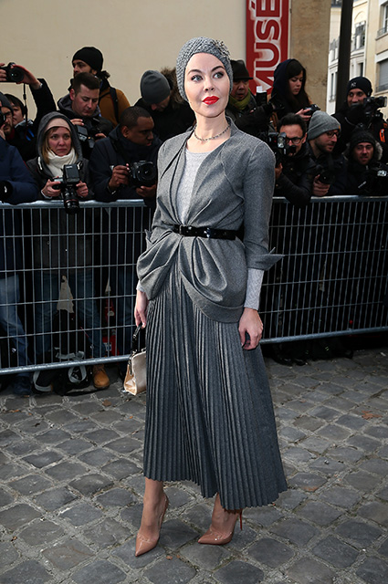 PARIS, FRANCE - JANUARY 23:  :Ulyana Sergeenko attends the Christian Dior  Haute Couture Spring Summer 2017 show as part of Paris Fashion Week on January 23, 2017 in Paris, France.  (Photo by Pierre Suu/Getty Images)