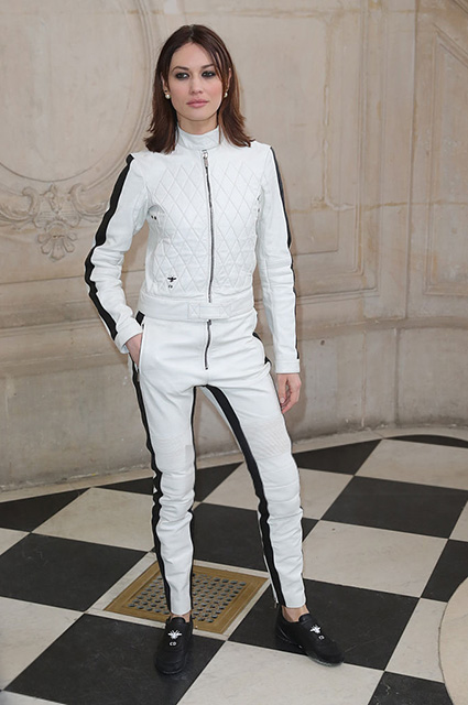 PARIS, FRANCE - JANUARY 23:  Olga Kurylenko attends the Christian Dior Haute Couture Spring Summer 2017 show as part of Paris Fashion Week on January 23, 2017 in Paris, France.  (Photo by Antonio de Moraes Barros Filho/WireImage)